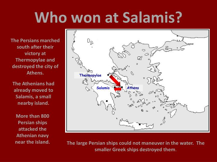 Who won at Salamis?