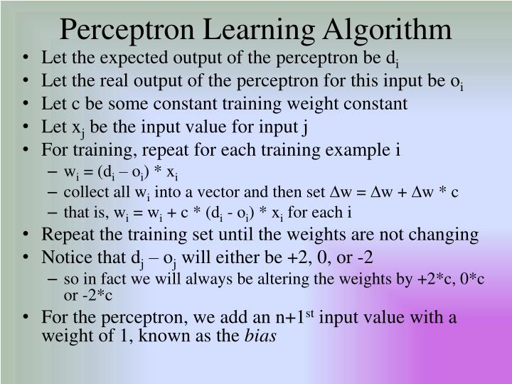Perceptron Learning Algorithm