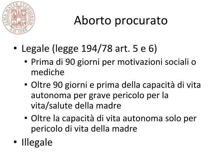 Aborto procurato