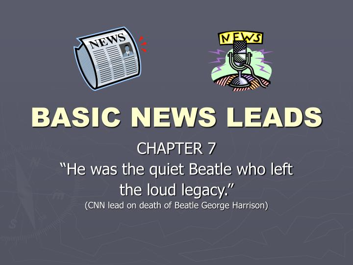 basic news leads