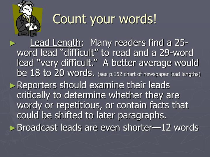 Count your words!
