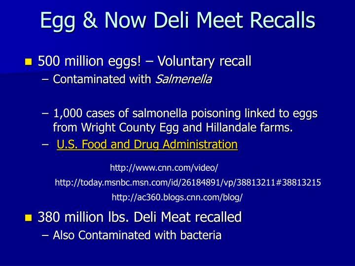 Egg & Now Deli Meet Recalls