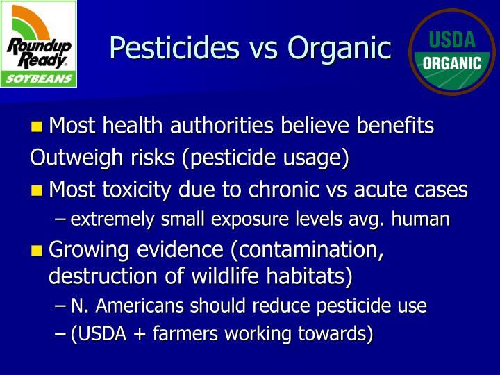 Pesticides vs Organic