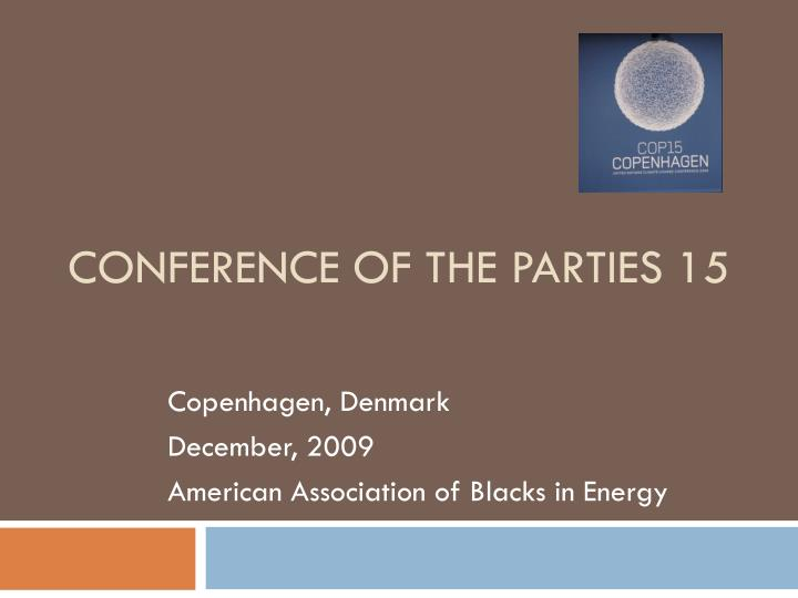 Conference of the parties 15
