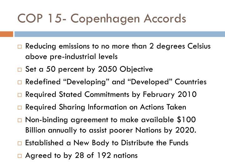 COP 15- Copenhagen Accords