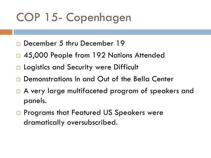 COP 15- Copenhagen