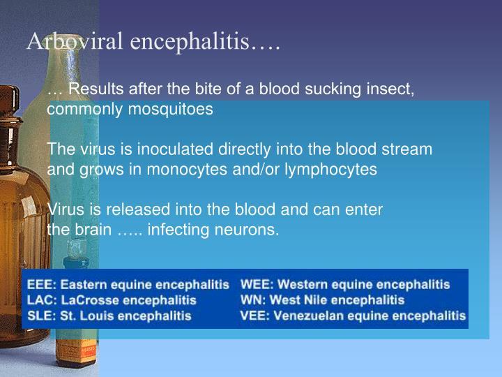 Arboviral encephalitis….