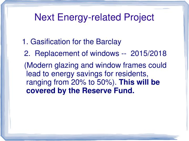 Next Energy-related Project