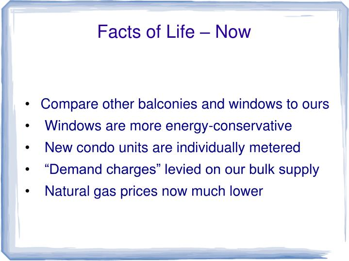 Facts of Life – Now