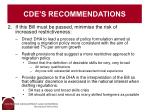 cde s recommendations1