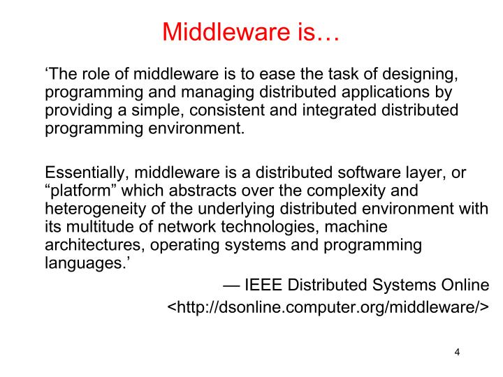 Middleware is…