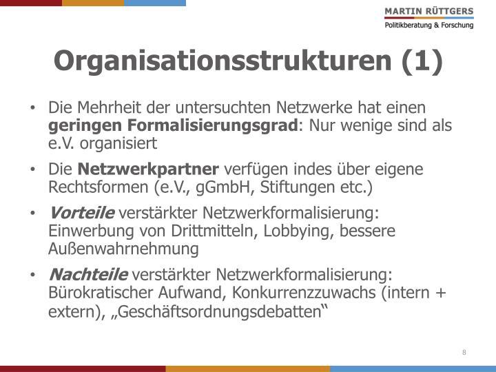 Organisationsstrukturen (1)