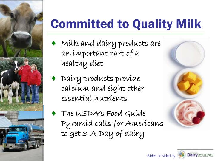 Committed to Quality Milk