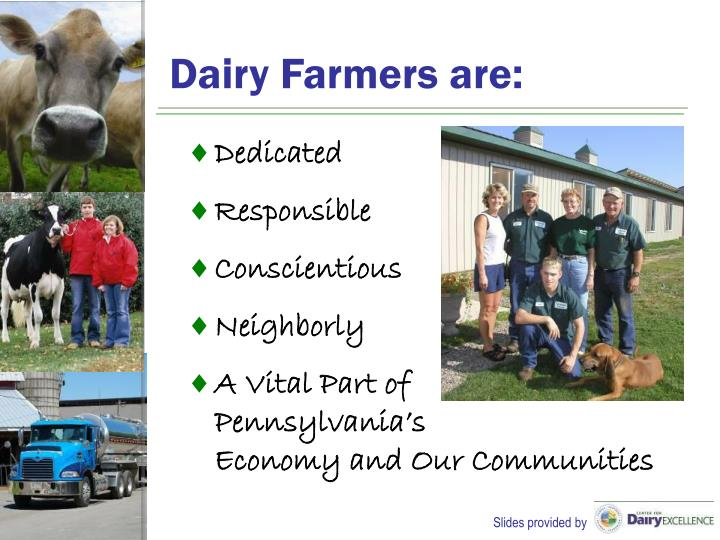 Dairy Farmers are: