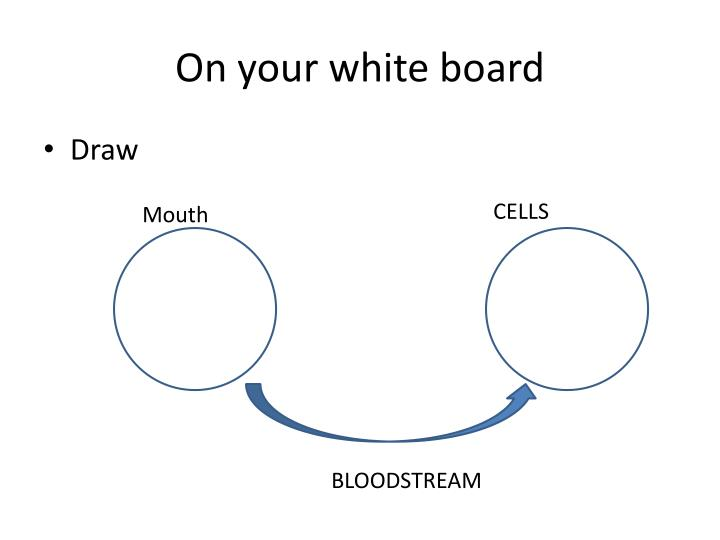 On your white board