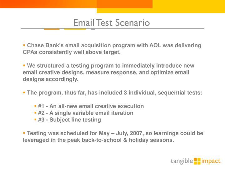 Email Test Scenario
