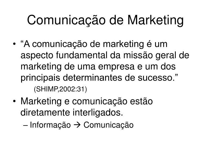 Comunica o de marketing