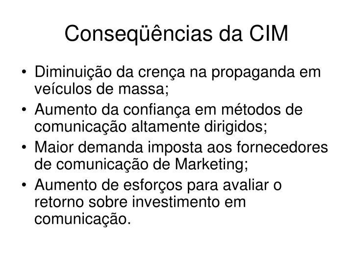 Conseqüências da CIM