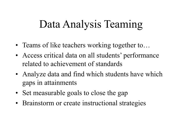 Data Analysis Teaming