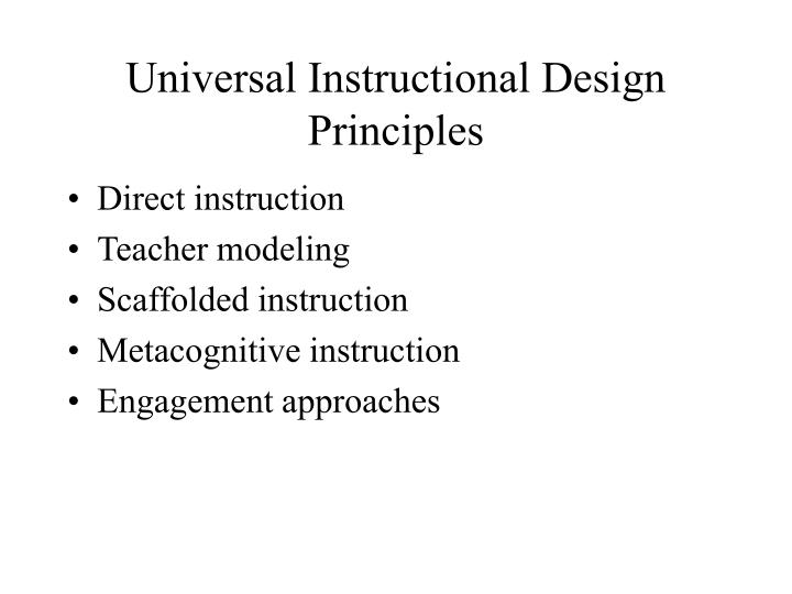 Universal Instructional Design Principles