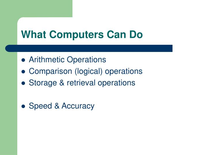 What Computers Can Do