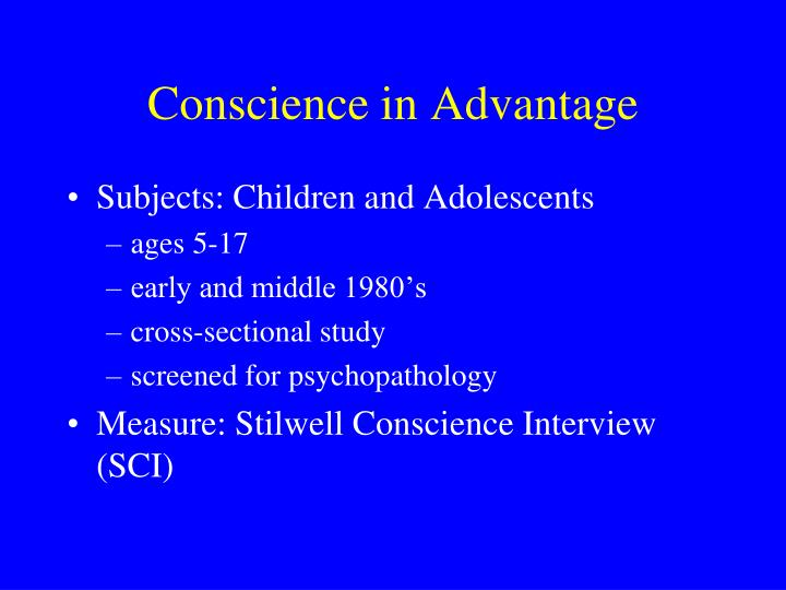 Subjects: Children and Adolescents