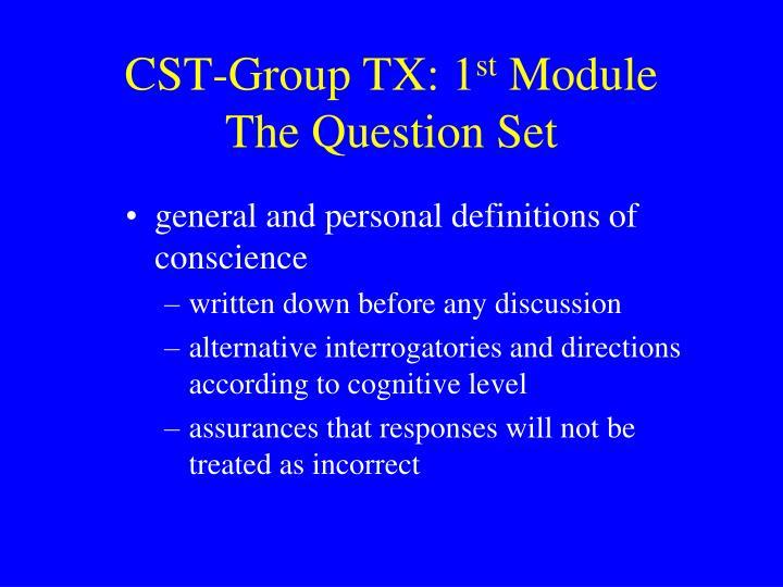 CST-Group TX: 1