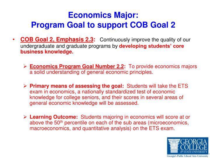 Economics Major: