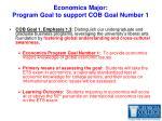 economics major program goal to support cob goal number 1