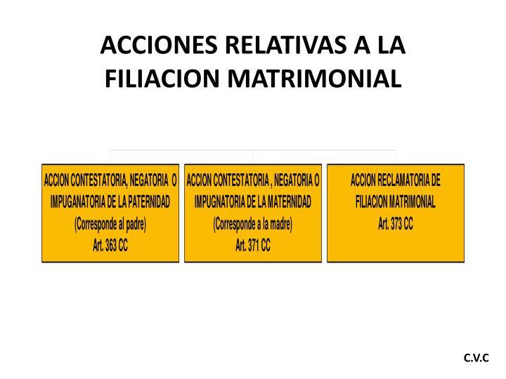 ACCIONES RELATIVAS A LA FILIACION MATRIMONIAL