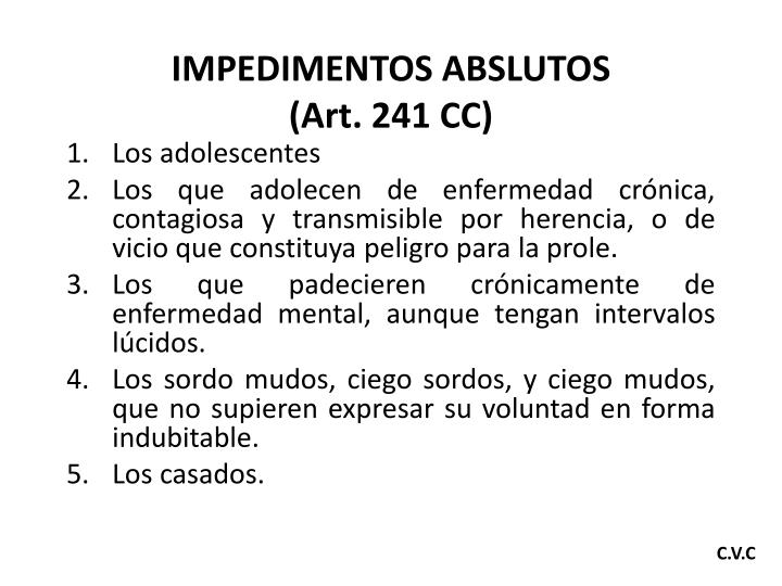 IMPEDIMENTOS ABSLUTOS