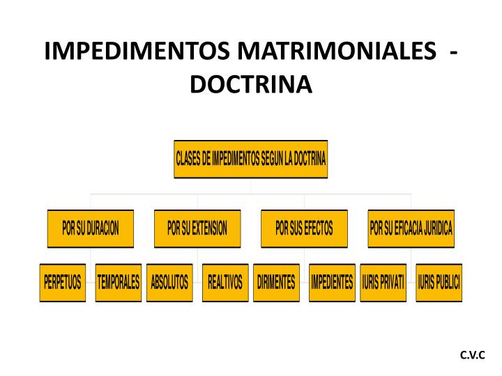 IMPEDIMENTOS MATRIMONIALES  - DOCTRINA