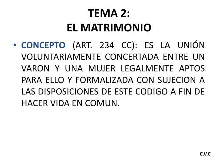 TEMA 2: