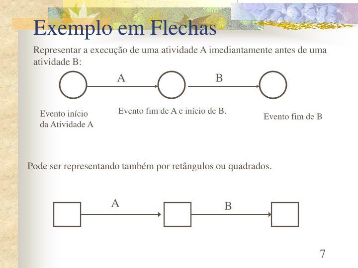 Exemplo em Flechas
