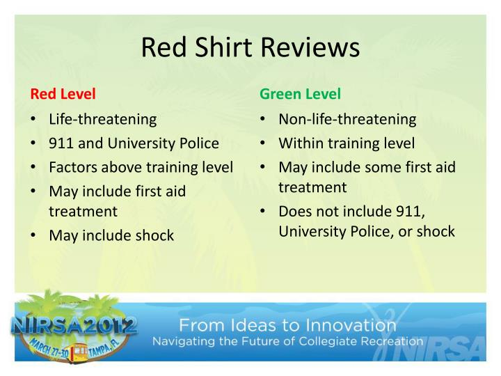 Red Shirt Reviews