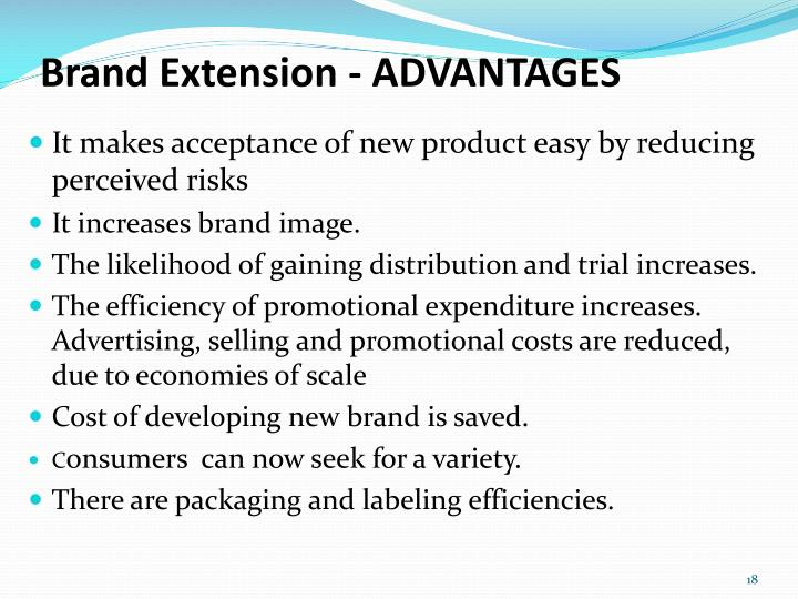 Brand Extension - ADVANTAGES