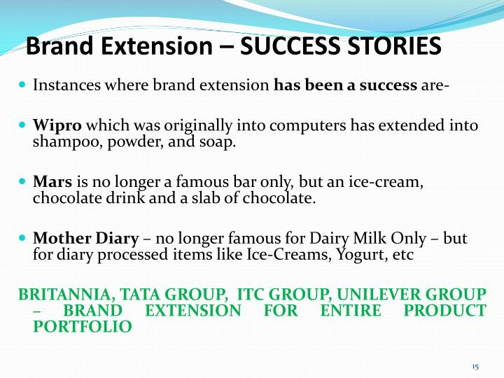 Brand Extension – SUCCESS STORIES