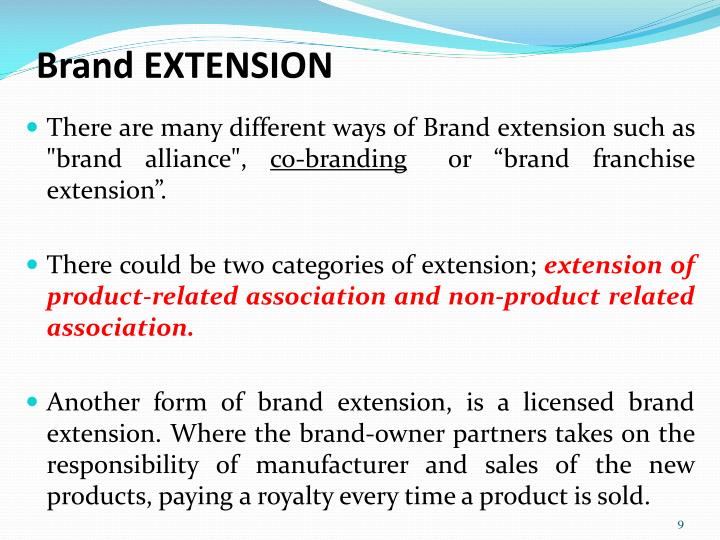 Brand EXTENSION