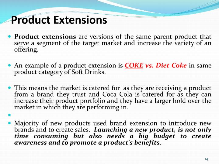 Product Extensions
