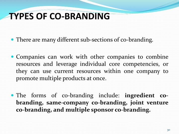 TYPES OF CO-BRANDING