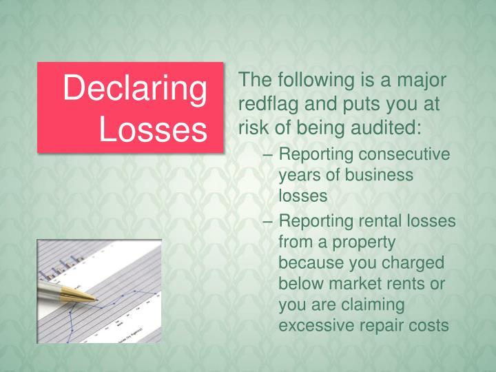 Declaring Losses