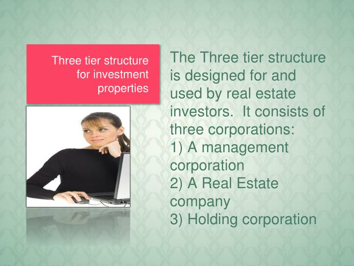 Three tier structure for investment properties