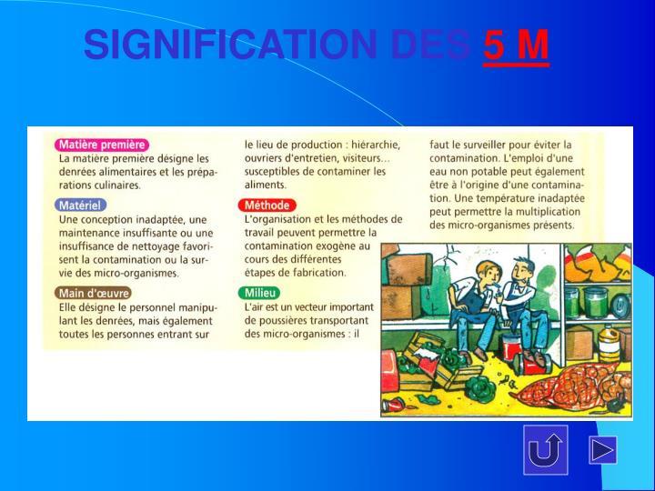 SIGNIFICATION DES