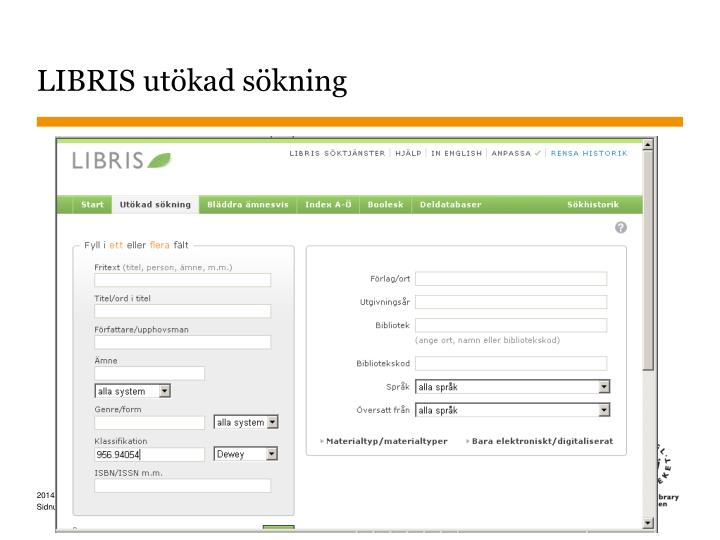 LIBRIS utökad sökning