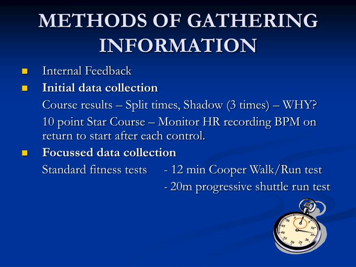 Methods of gathering information