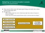 adapting to communication losses theory conceptual model