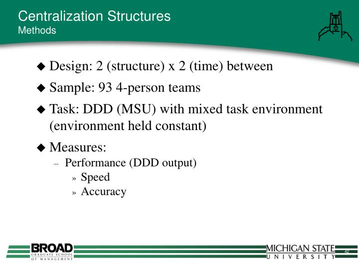 Centralization Structures