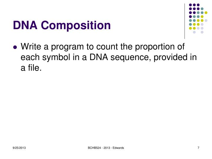 DNA Composition