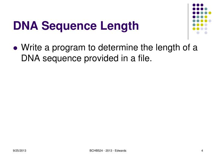 DNA Sequence Length