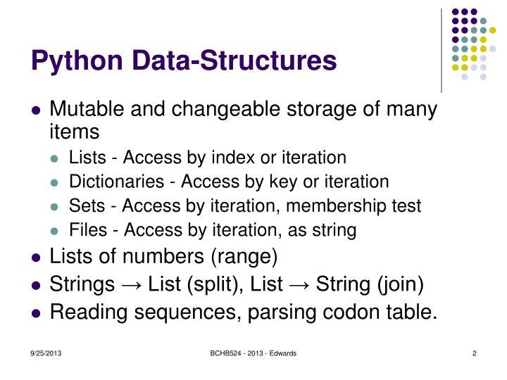 Python Data-Structures